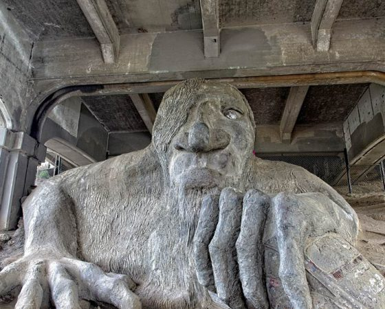 Troll Beneath the Fremont Bridge in Seattle, Washington